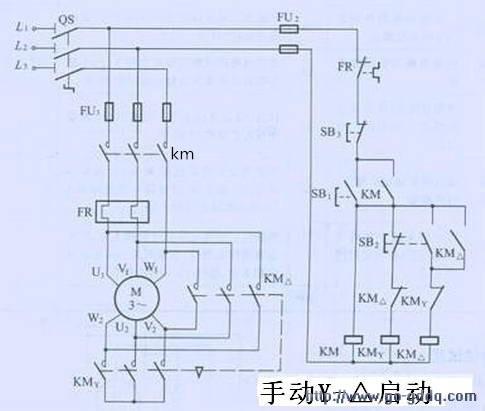 求jjk-55减压起动控制柜原理图