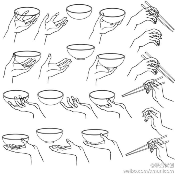 保温杯手绘草图