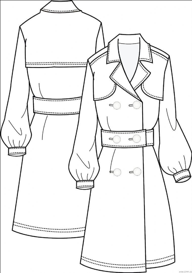 男装外套的款式设计图展示