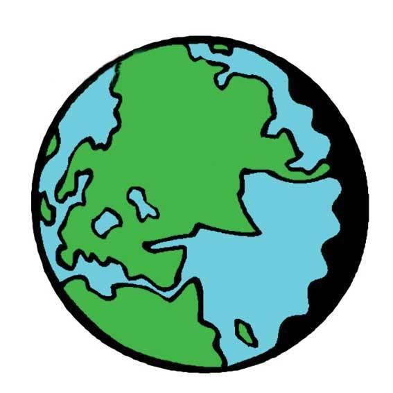 地球的简笔画