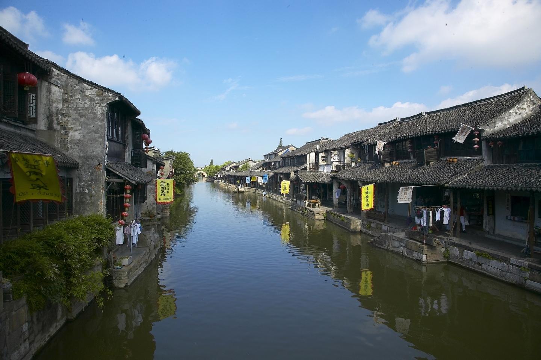 西塘风景手绘图