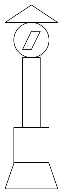 圆形长方形正方形梯形三角形组成的图片?