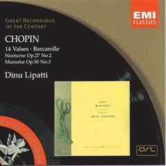 chopin: 14 waltzes/barcarolle/nocturne in d flat/mazurka in c sharp minor