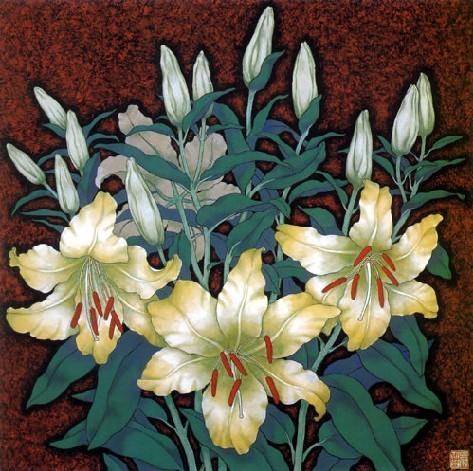 中国工笔重彩画起源于春秋时期,成熟于唐宋.