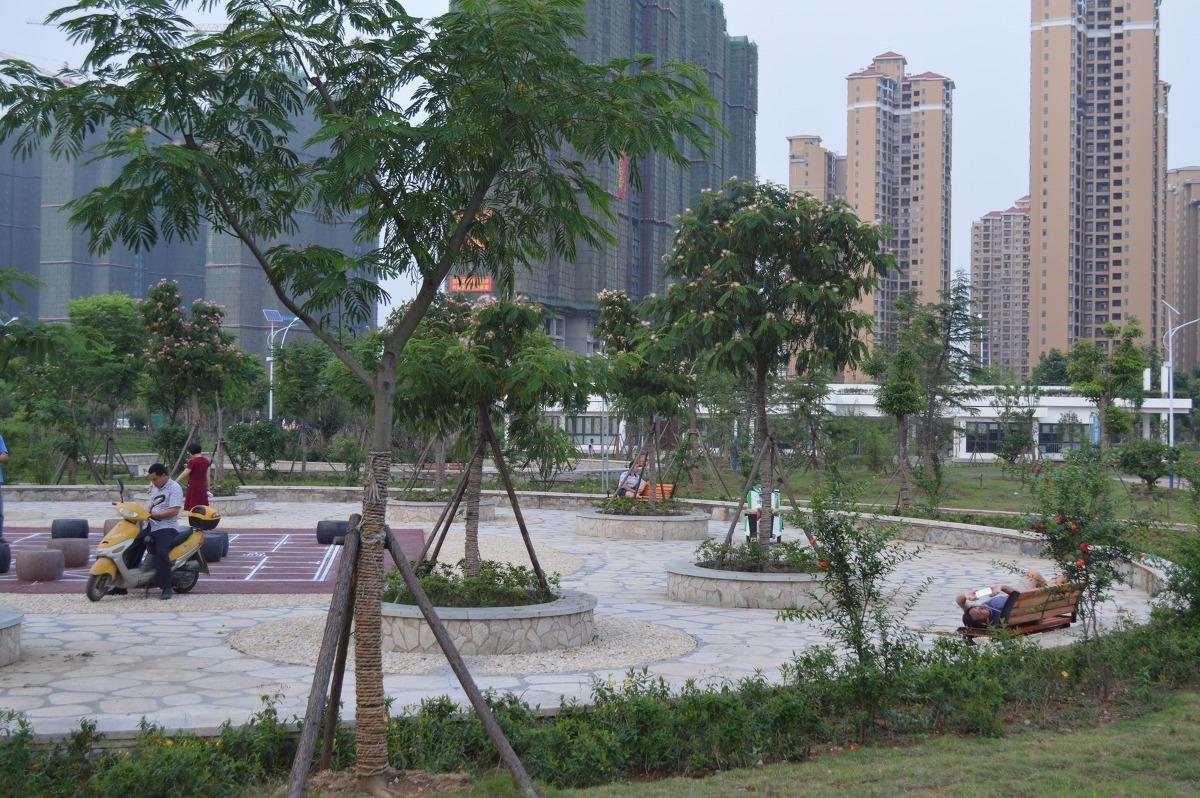 """公园主题设计突出了""""生态""""的功能,以植物景观,人性空间,亲水体验为"""