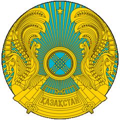 靠旗杆一侧有一垂直竖条,为哈萨克传统的金色花纹图案.
