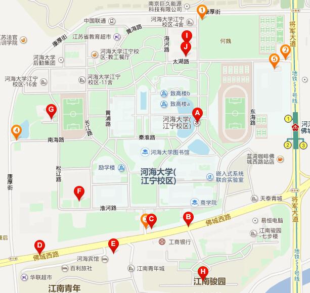 河海大学本部邮编_河海大学江宁校区地图-想知道:河海大学江宁校区内部地图 在哪