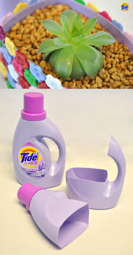 哪位大神能告诉我肿么做花瓶(洗衣液瓶做)花纹