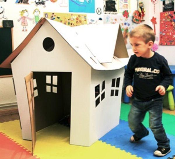 如何diy廢紙箱做小房子方法圖解